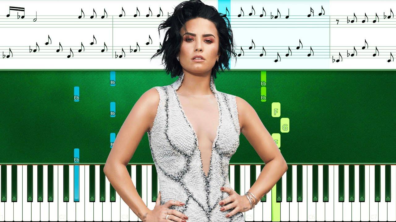 Demi Lovato - In The Mirror (Piano Tutorial With Sheets   Piano Instrumental   Piano Karaoke)
