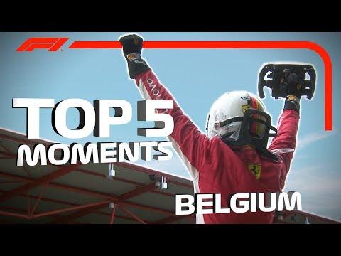 Top 5 Moments  2018 Belgian Grand Prix