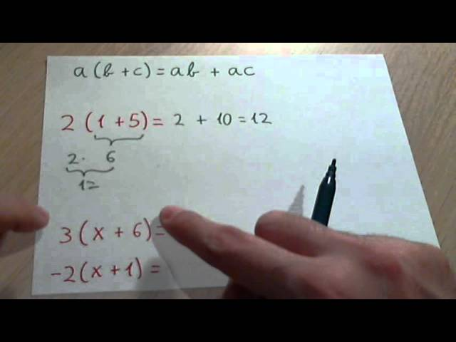 Propiedad Distributiva Matemáticas Youtube