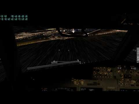 X-Plane 11 Most Severe weather settings on Final into EHAM