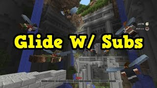 minecraft glide minigame with subscribers