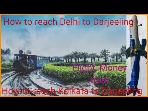 how to go darjeeling from delhi by flight