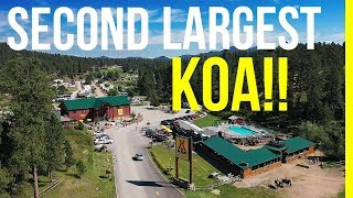 SECOND LARGEST KOA RESORT RV CAMPGROUND IN THE US. IT'S HUGE!!