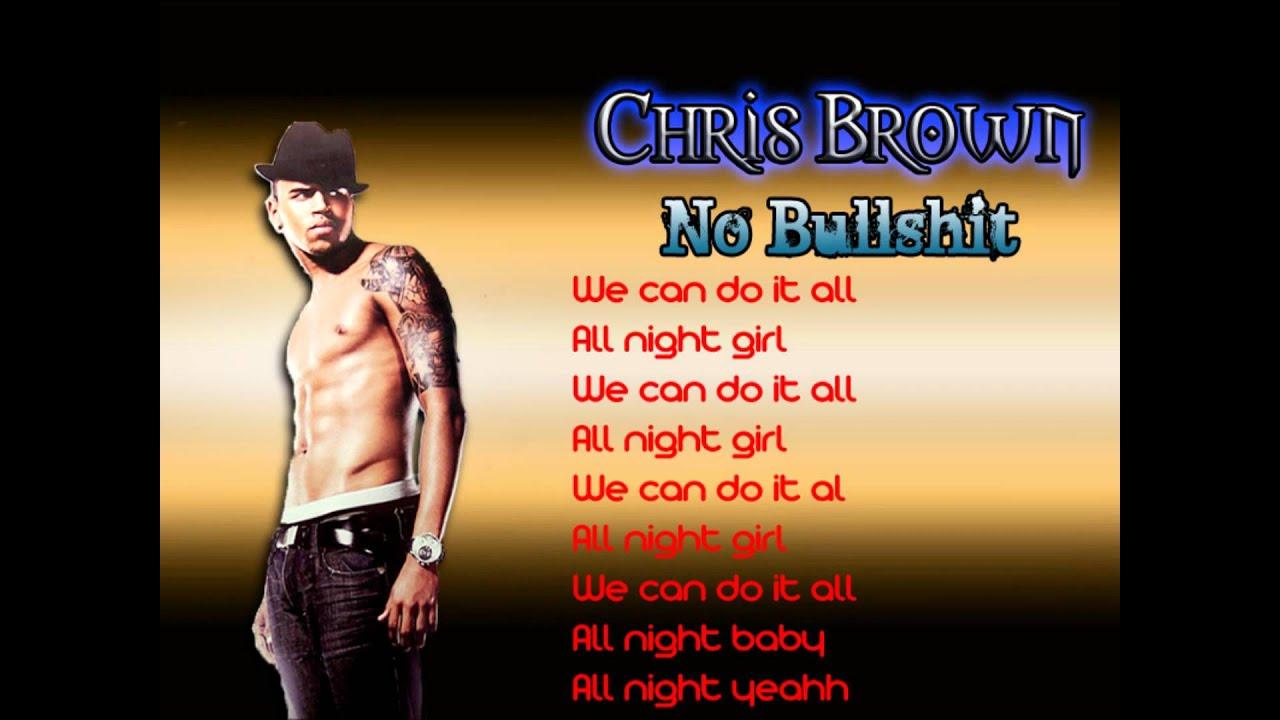 Chris Brown – No Bullshit Lyrics | Genius Lyrics