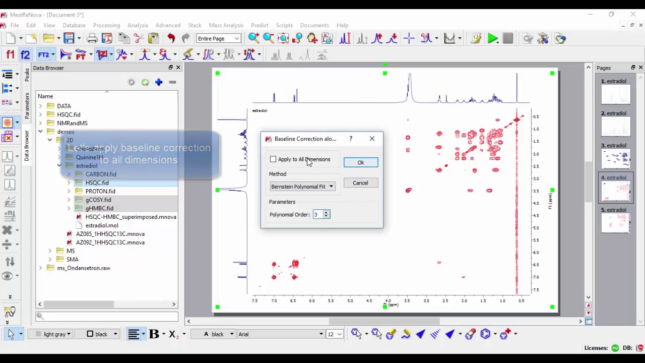 Mnova 2D NMR processing - A quick introduction
