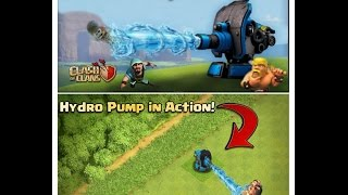 hydro pump clash of clans Latest defence in new update – New Clash of Clans Videos