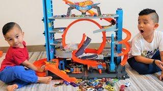 Hot Wheels City Ultimate Garage Tower Shark Loop Racetrack CKN Toys