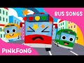 Five Little Buses Jumping on the Road | Bus Songs | Car Songs | PINKFONG Songs