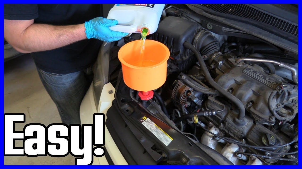 How To Replace Coolant Dodge Caravan 3 3l V6 2001 2010 Youtube