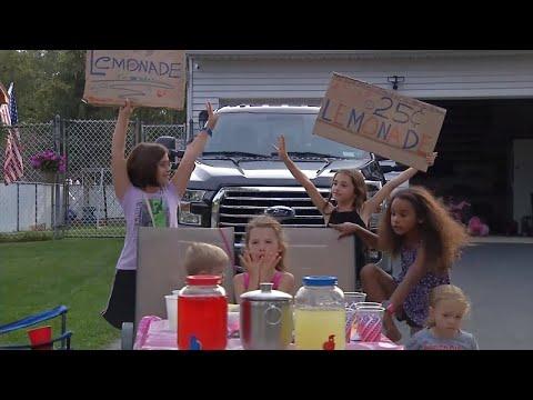 Kids Hold Lemonade Stand to Raise Money for Animals in Hurricane Harvey