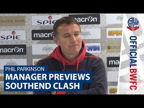 PHIL PARKINSON | Manager previews-Southend United clash