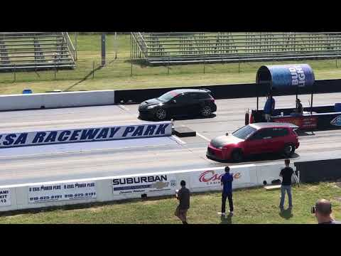 4 Piston Powered K27 Civic Goes 9.87@139 MPH All Motor !!!