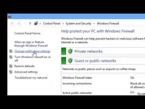 การเปิดหรือปิดไฟร์วอลล์ Firewall ใน Windows 8