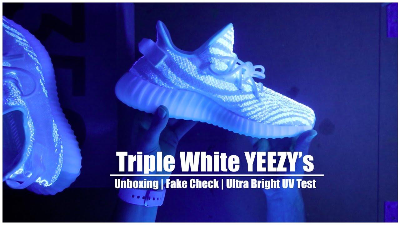 ad2188b083b Cream Yeezy Boost 350 V2 UV Test - YouTube