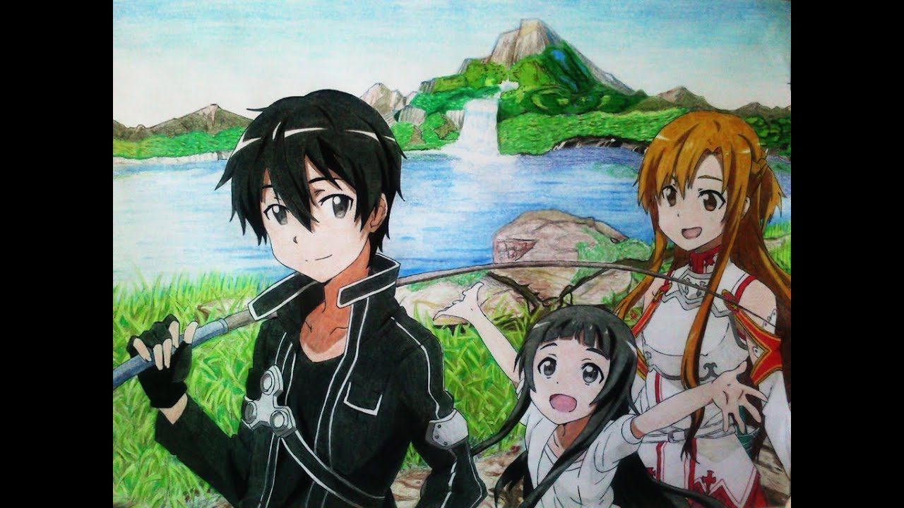 Sword Art Online Kirito Asuna Yui Anime Top Wallpaper