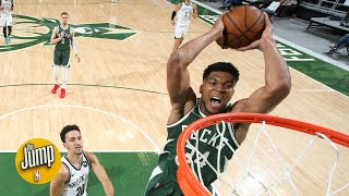 That may have been Giannis' finest offensive game of his career – Lowe on Nets vs. Bucks | The Jump