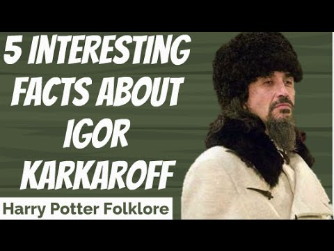 5 Interesting Facts About Igor Karkaroff Youtube It says so (more or less) in gof in the chapter where malfoy is talking about. 5 interesting facts about igor karkaroff