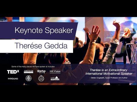 Speaker reel by Keynote Speaker Therese Gedda