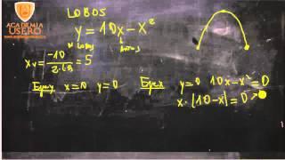 Gráfica de una parábola Población animal isla Matemáticas Academia Usero Estepona