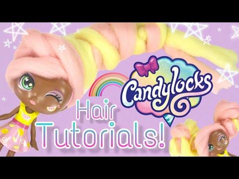 hair-tutorials-for-the-new-candylocks-doll!-braids,-twist-and-twirl!-棉花糖头发的娃娃?!-超长超容易做造型!2019新玩具!