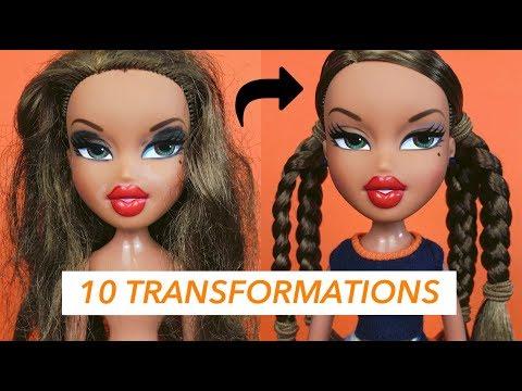 BRATZ TRANSFORMATIONS! ( 10 DOLLS ) | AzDoesMakeUp!