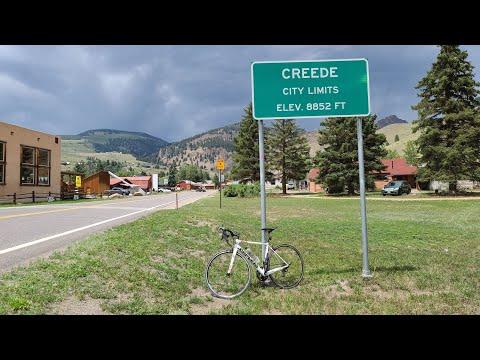 Livestream Bike Ride Creede Colorado,  High Elevation