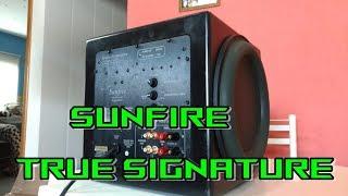 Unboxing sunfire true subwoofer signature