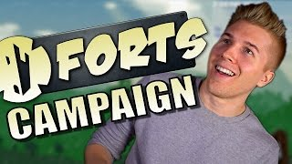 Forts [Campaign Hard Mode] PC Game | Let's Play Forts Gameplay - Part 1