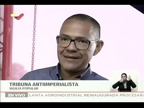 """Ministros Ernesto Villegas y William Contreras desde foro """"De la Carmonada a la Guaidonada"""""""