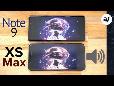 iPhone XS Max vs Note 9 Speaker Comparison