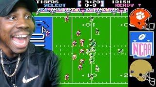 NCAA FOOTBALL 19 CFP (Clemson vs Notre Dame) Tecmo Super Bowl Rom Gameplay