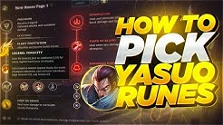 Yassuo | HOW TO PICK YOUR RUNES AS YASUO!