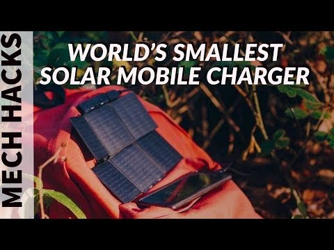 Sunslice | World's Smallest Solar Charger for Mobiles | Card Sized Solar Charger | Mech Hacks