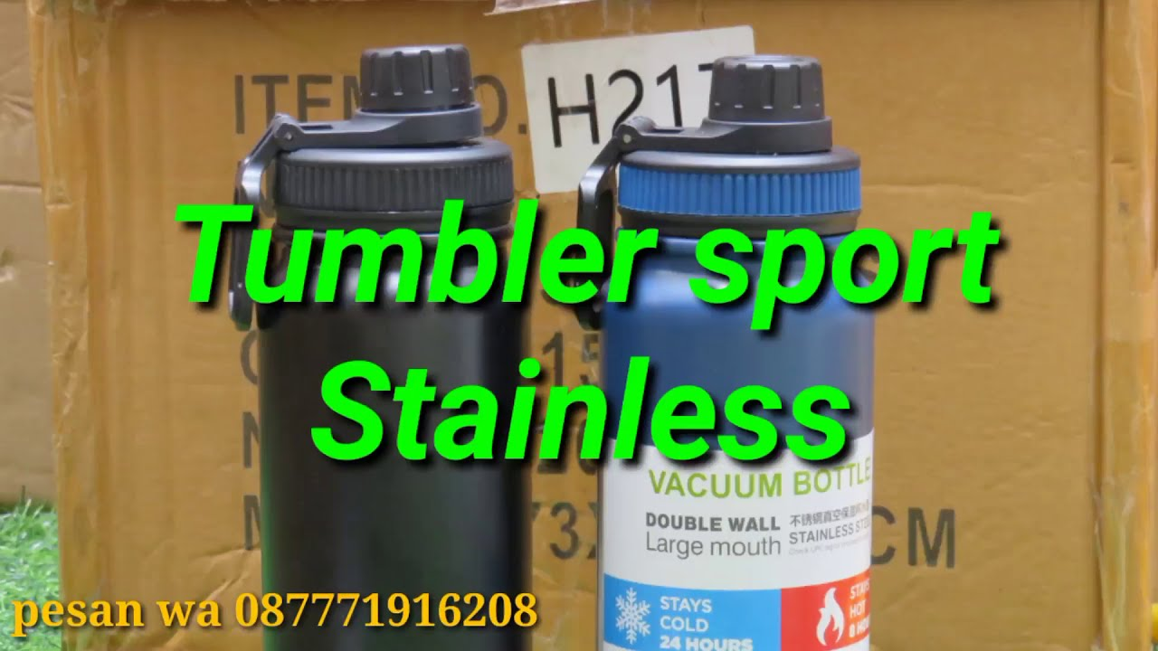 REVIEW Water bottles vacuum stainless 600ml mantap