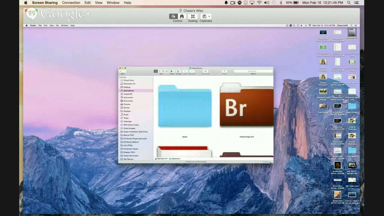 How to Screen Share on a Mac (Use Yosemite Mac OSX Screen Sharing Demo)