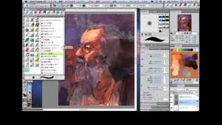 Painter Master 横田ヒロミツ氏による、Painter 12でのポートレイトの描...