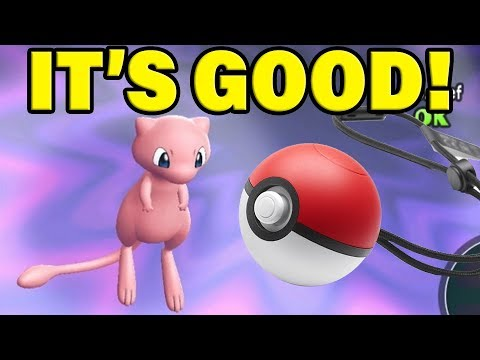 POKEBALL PLUS IS AMAZING! (And Mew In Pokemon Let's Go Pikachu)