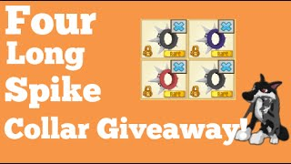 Animal Jam Four Long Spike Collars Giveaway (Closed)