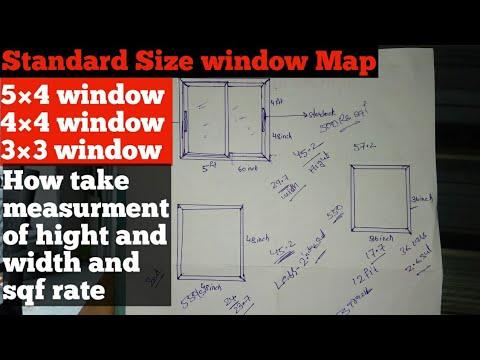 Aluminium Window Measurement Guide | How To Make Aluminium Window | Window Standard Size Measurement