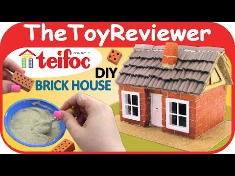 Teifoc DIY Brick House Frame Work Construction Set 4300 Craft Unboxing Toy Review by TheToyReviewer
