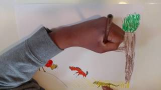 Savanna Time Lapse Drawing!!! Art Attack