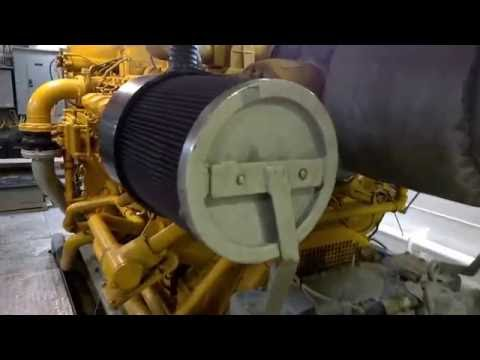 Engine Room of an Offshore Boat