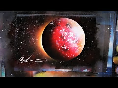 Blood Moon Eclipse - SPRAY PAINT ART by Skech - YouTube