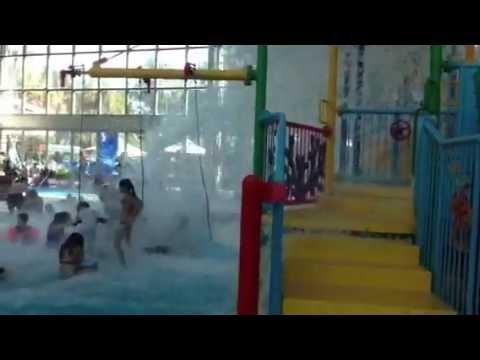 Huge Water Dump At Sydney Olympic Park Aquatic Centre