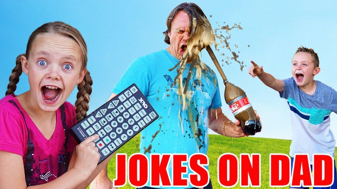 Sneaky Jokes On Dad Funny Pause Challenge Kids Fun Tv Youtube