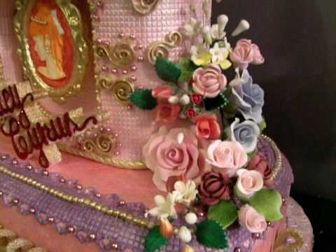 Debut Cake Design With Stairs : fondant sweet 16 cake or debut cake - YouTube