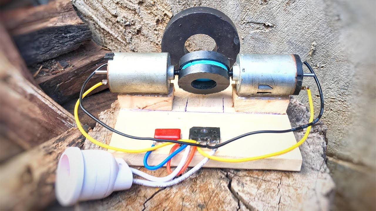 Wow! Free Energy Inventions Using DC Motor Generator With Magnets   Science  Project