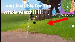 How To Turn Invisible And Still SHOOT FOR The Whole Match In Fortnite (Saison 6 GLITCH)