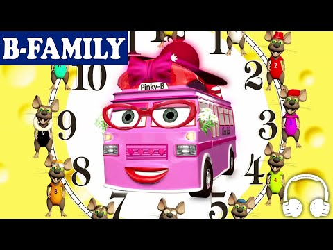 [B-FAMILY]  Hickory Dickory Dock & How to Read the Time on a Clock | Muffin Songs