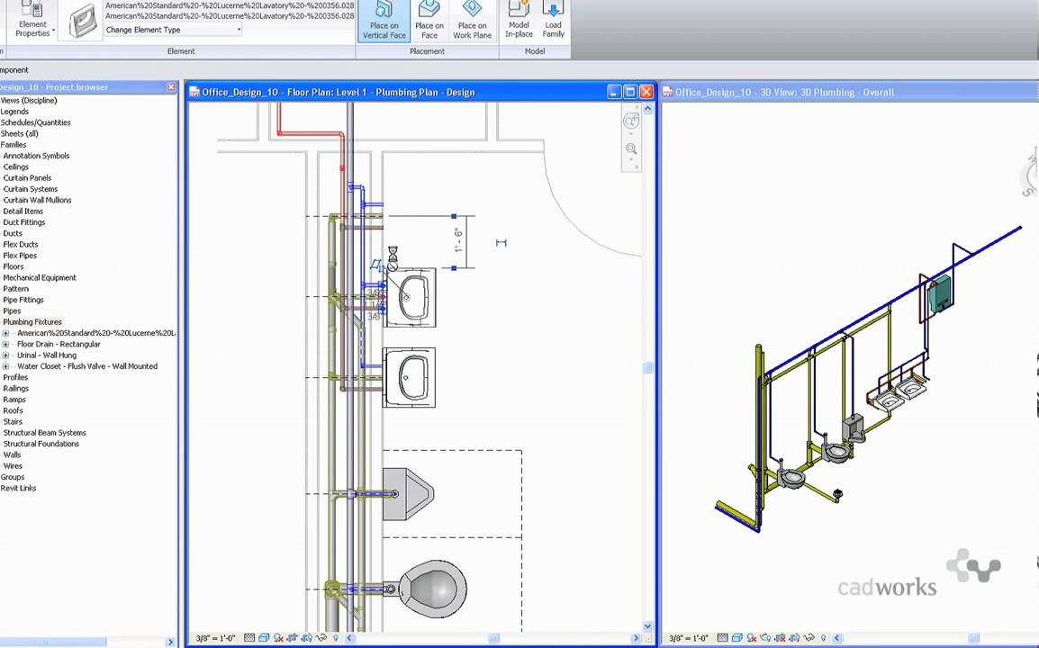Using Autodesk Seek And Revit Mep 2010 To Search For Insert American Standard Urinal Wiring Diagram Plumbing Fixtures